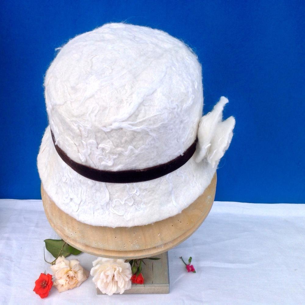 Felt handmade, wool, nettle fiber